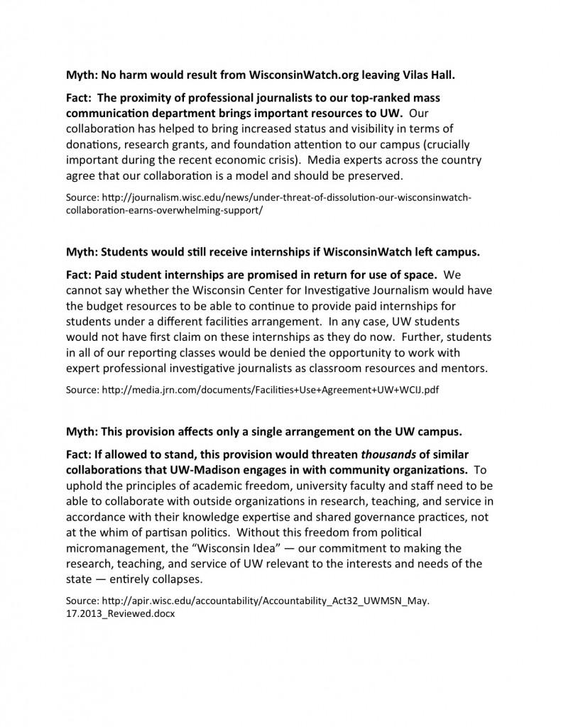 WCIJ and SJMC - MYTH AND FACT p. 2